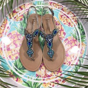 BCBGeneration Jewel Embellished Sandals
